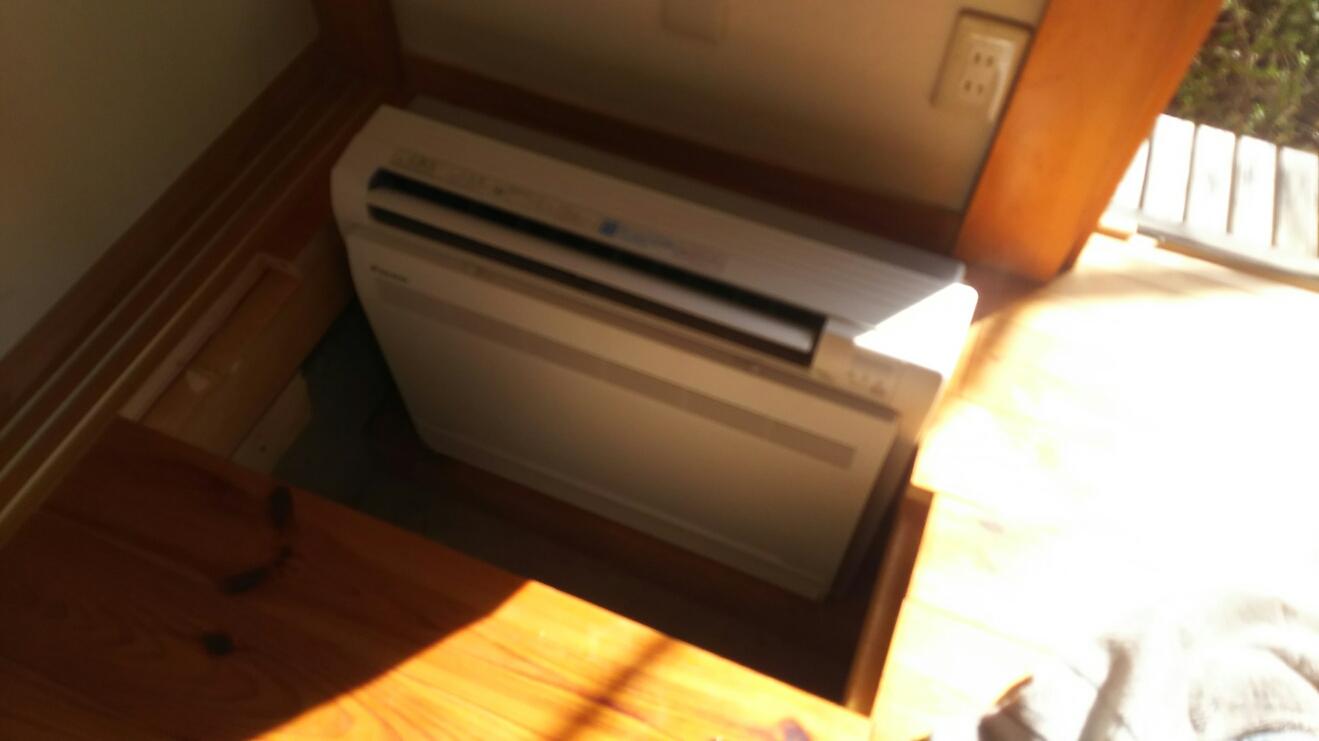 ダイキン床置きエアコンS36RVV-W